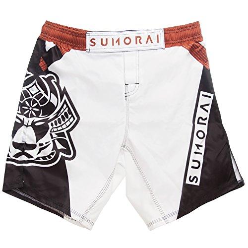 SUMORAI MMA BJJ Kickboxing WOD Shorts (Large, Brown)