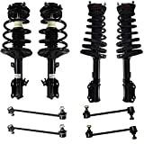 Detroit Axle - Front & Rear Strut Assembly + Front Sway Bar Links Replacement for Toyota Avalon Solara Camry Lexus ES300 3.0L Only - 8pc Set