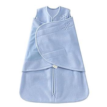 HALO Micro-Fleece Sleepsack Swaddle 3-Way Adjustable Wearable Blanket TOG 1.5 Baby Blue Small 3-6 Months