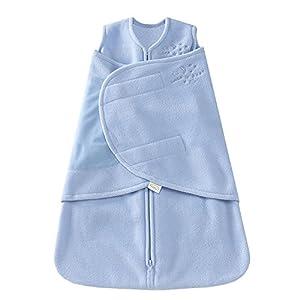 HALO Sleepsack Micro Fleece Swaddle, Blue Aviator, Small