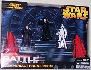 Star Wars EIII Revenge of the Sith Exclusive Deluxe Battlepack Action Figure Set Imperial Throne Room