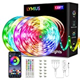 【Ultra-Long】130FT LED Lights for Bedroom, LYMIUS APP Control RGB LED Strip Lights with Remote, Music Sync for TV, Party, Holiday, Kitchen, Home Decoration
