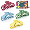 4-Pack Yeelen Large Hair Claw Clips