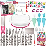 Exclusive Cake Decorating Supplies with Cake Turntable - The Biggest 80 PCS Baking