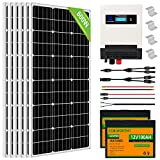 ECO-WORTHY 600Watt 24Volt Solar Panel Complete Kit Solar Power System with Lithium Battery and Hybrid Solar Charger Inverter for Battery Shed Farm RV Boat