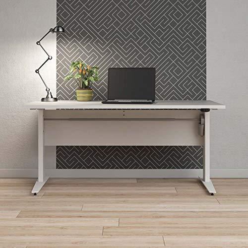 Tvilum Prima Schreibtisch, Motortisch, höhenverstellbar Stehtisch Weiß, Ergonomisch