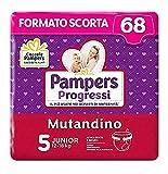 Pampers Progressi Mutandino Junior, 68 Pannolini, Taglia 5 (12-18 Kg)