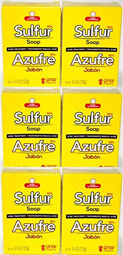 Grisi Sulfur Soap for Acne - 6 pack