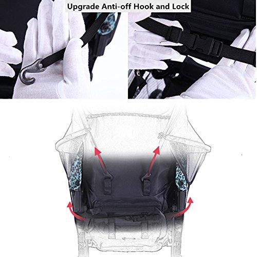 ベビーカーサンシェード日除けカバー紫外線カットチャイルドシート兼用(ブルー)