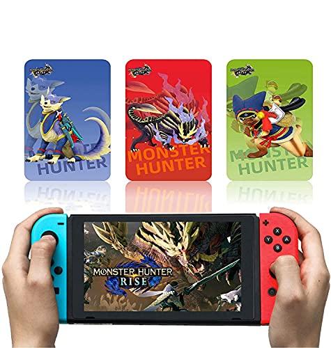 Mini Tarjeta NFC Monster Hunter Rise De 3 Piezas, Que Incluye: Palamute, Palico, Magnamalo, Compatible con Switch/Switch Lite