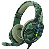 Cosmic Byte GS430 Gaming on-ear wired headphone 7 Color RGB LED with Microphone