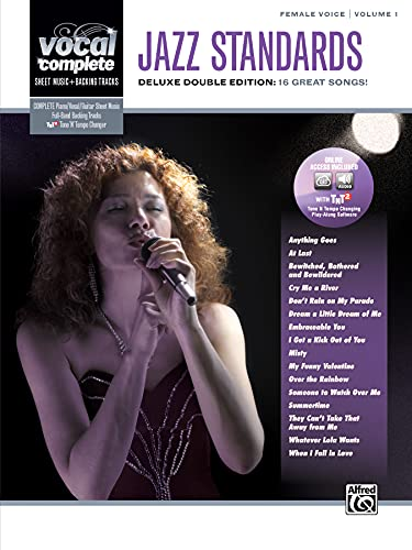 Vocal Complete -- Female Voice Jazz Standards: Piano/Vocal Sheet Music with Orchestrated Backing Tracks, Book & Online Audio/Software