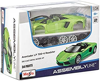 Maisto Assembly Line Lamborghini Aventador Roadster Die Cast Model Kit (1:24 Scale)