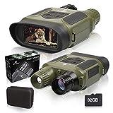 BNISE Digital de Visión Nocturna Prismáticos con 4' TFT LCD Pantalla y 32GB TF Tarjeta, Alcance Visual de 1300pies/400m