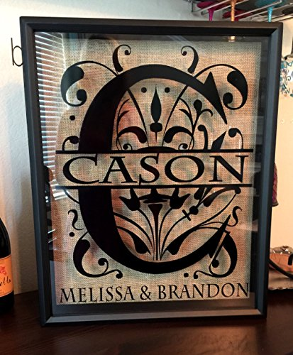 Split Letter Monogramed Customized Wine Cork Holder- can be used as a alternative guest book, great wedding gift