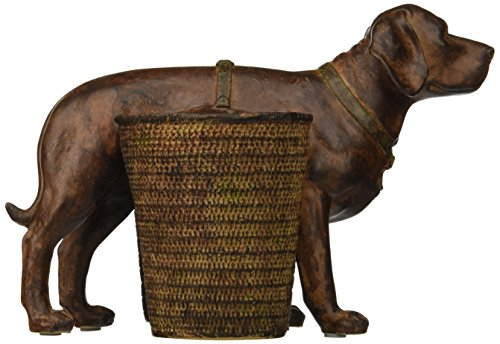 Creative Co-op Resin Dog with 2 Baskets