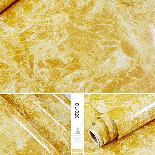 Vinilo adhesivo de pared de PVC autoadhesivo para papel pintado de mármol, impermeable, resistente al calor, encimeras, mesas, muebles, armarios, papel de pared (color: Dl 026, tamaño: 1 m x 40 cm)