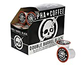 Alpha Coffee - Double Barrel Black 24 Count K-Cup Premium Gourmet Craft French Roast Ground Coffee | Veteran Owned - 100% Arabica Midnight Blend | Specialty Small Batch Roasted Coffee