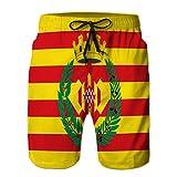 Xunulyn Shorts de Playa de Moda Bañadores para Hombre Trajes de baño Bandera Informal de girona es...