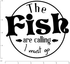 Kssim The Fish Are Calling Fishing Wall Sticker