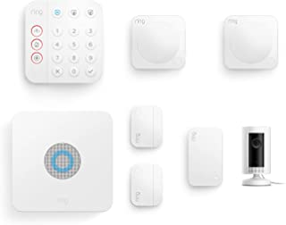 Ring Alarm 7 Piece Kit (2nd Generation) + Ring Indoor Cam by Amazon – home security system with optional Assisted Monitori...
