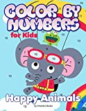 Color by Numbers for Kids: Happy Animals: Coloring for Age 3 to 8 (Large Size Jumbo Coloring Book with Animals - A Fun Way to Learn Colors. Color Key ... A Fun Way to Learn Colors. Color Key Included