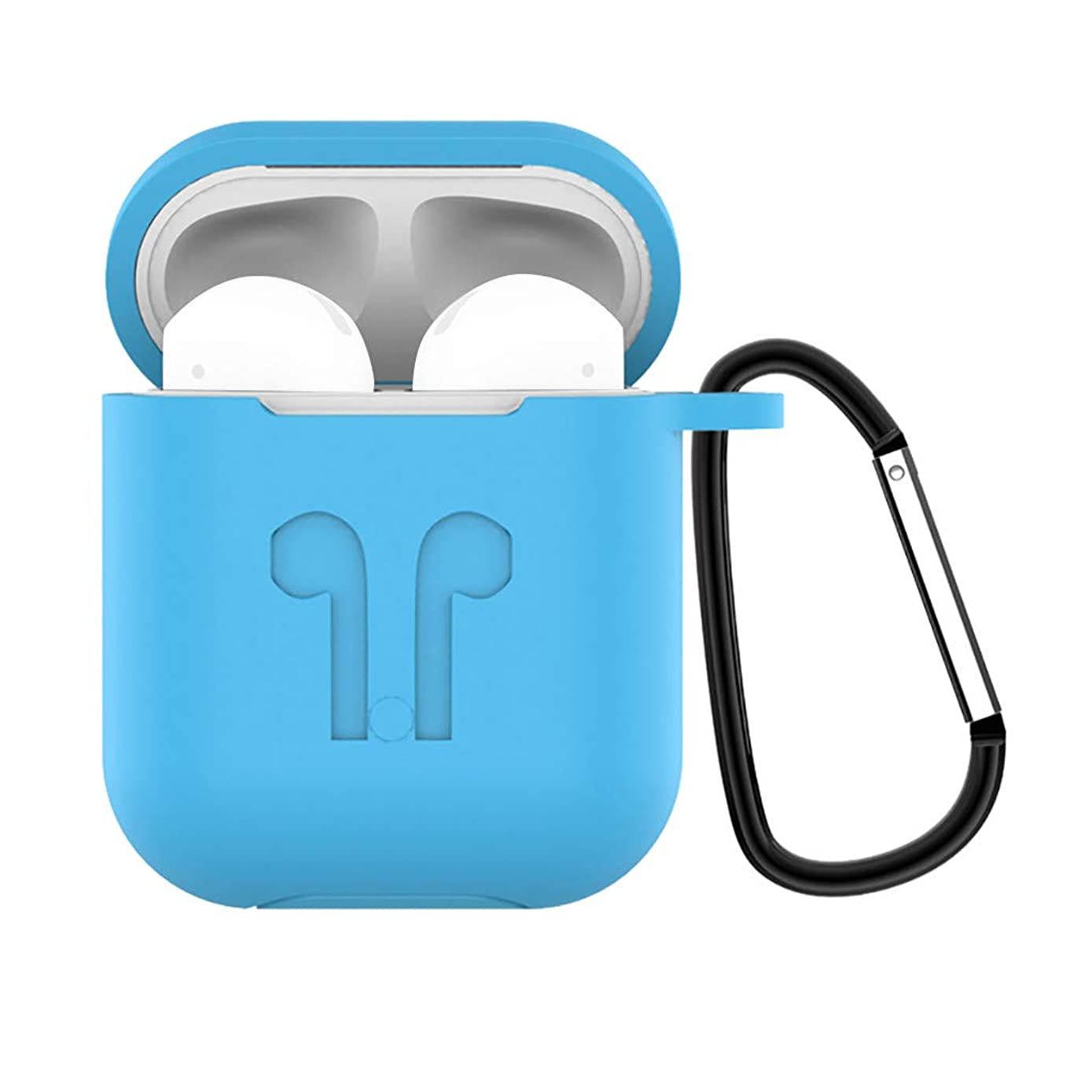 Islandse????Silicone Anti-Lost Protective Cover Skin Case for Apple AirPods 2 with Ear Hook