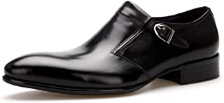 Rui Landed Oxford for Men Formal Shoes Slip On Style Genuine Leather Delicacy Monk Strap Elegant Black Business Casual Poi...