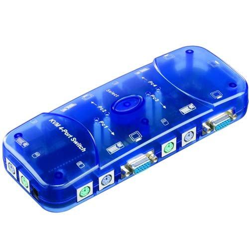 SM-PC®, KVM Umschalter Switch für 4 PC VGA PS2#105