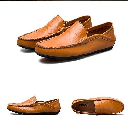 Dilunsizrf Hommes Grande Taille Chaussures Chaussures Chaussures Décontracté Shopping Chaussures,jaunemarron,40
