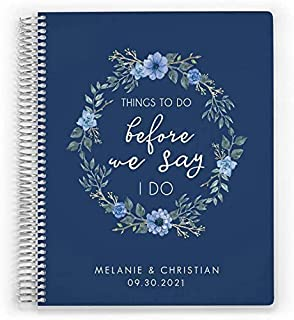$63 » Things to Do Customized Wedding Planner, Engagement Gift, Wedding Organizer, 8 x 11 inch, by PurpleTrail