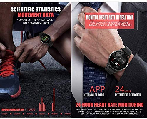 Reloj inteligente con pantalla táctil de actividad física IP67, resistente al agua, pulsera inteligente de moda, frecuencia cardíaca y presión arteria...