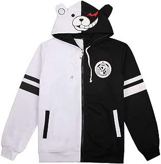 Wish Costume Shop Anime Monokuma Sweatshirt Black White Bear Cosplay Costume Hoodie
