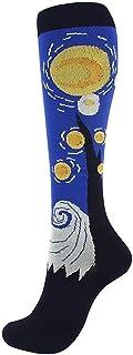GXSox, GXSox 20-30 mmHg de compresión Calcetines Sirve Van Gogh Pintura Creativa de circulación presión Firme Calcetines Ortopédico Medias de mangueras (Color : 6, Size : Woman)