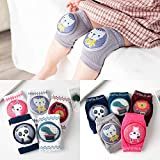 7 Pairs Kneepads Baby Crawling Anti-Slip Adjustable Unisex Knee Pads Soft Protector with elastic sponge and Leg Warmer for Toddlers, Infants, Boys, Girls, Kids 7 Pcs
