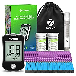buy  AUVON DS-W Blood Sugar Test Kit (100 Test Strips, ... Blood Glucose Monitors