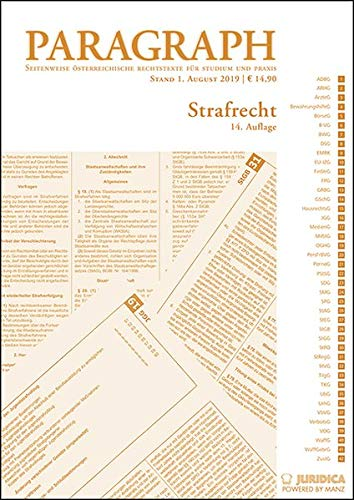 Paragraph - Strafrecht: Paragraph. Seitenweise österreichische Rechtstexte für Studium und Praxis (Edition Juridica)