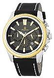 Burgmeister Men 039 s QuartzステンレススチールandレザーCasual Watch, Color : Black (Model : bmt03–922)