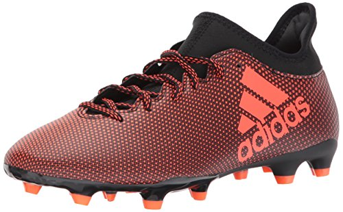 adidas Men's X 17.3 FG Soccer Shoe, Black/Solar RED/Solar Orange, 10 Medium US