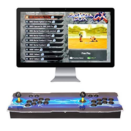 ARCADORA 3A Original Pandora Box CX Consola de Videojuegos Retro Arcade, 2800 Juegos Retro, Admite 8 Botones, Conexión con VGA y HDMI, 1280x720 HD, Soporta multijugadores
