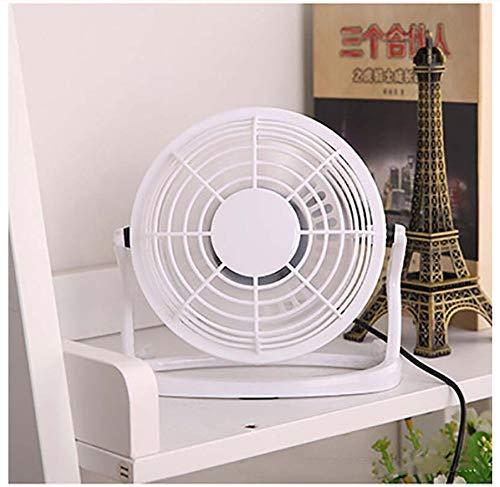 PPuujia Mini ventilador portátil DC 5V pequeño escritorio USB ventilador de refrigeración USB Mini ventiladores funcionamiento Super Mute silencioso para PC/ordenador portátil/portátil (color: blanco)