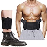 Belly Band Holster + Ankle Holster for Concealed Carry, Accmor Breathable Concealment Gun Holsters Waist Band, Elastic Waist & Leg Holsters with Magazine Pocket/Pouch for Men and Women