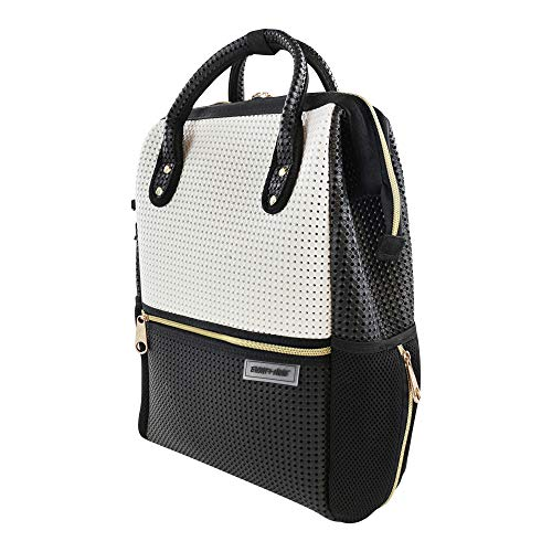 Light+Nine Customizable Tweeny Ergonomic School Backpack (Black N White)