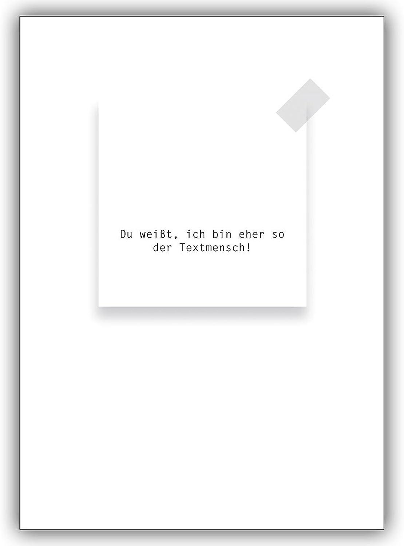 16 Liebeskarten (16er Set)  Grußkarte ohne Motiv  Du weißt, ich bin eher so der Textmensch  B00VRLOSSG | Exquisite Verarbeitung