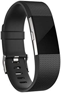For Fitbit Charge 2 Bands, Adjustable Replacement Sport Strap Bands for Fitbit Charge 2 Smartwatch Fitness Wristband-Black