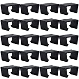 Black Sofa Connect Clamps for Patio Sectional Sofa Outdoor Wicker Chair Sofa Alignment Fasteners Clips Connector Module Couch Patio Rattan Furniture (20pcs)