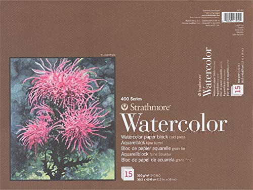 Strathmore 400 Series Watercolour Block (12 x 16 Zoll), 15 Blatt
