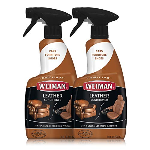 Weiman Leather Cleaner and Conditioner Non-Toxic Use on Your Couch Chair Purse Wallet Shoes Boots Saddle Belt Jacket Car Seat