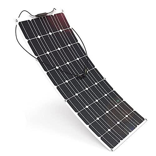 KELUNIS 100 Vatios 12 Voltios Monocristalino Flexible Panel Solar, Módulo De Energía Fotovoltaica De Alta Eficiencia para Aplicaciones De Carga De Vehículos Recreativos, Barcos, Camping Y Generadores
