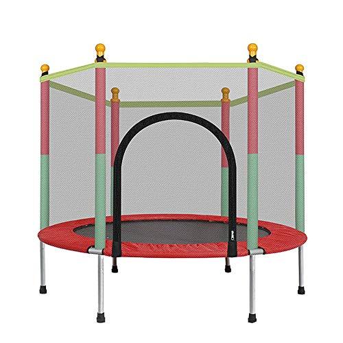 YBZS Trampolín Plegable, Trampolín Circular con Red Protectora, Mini Trampolín Gorila Que Puede Soportar 200 Kg, Protección De Seguridad/Resbalón/Trampolín De Fitness Resistente,Ejercicio Aeróbico,W